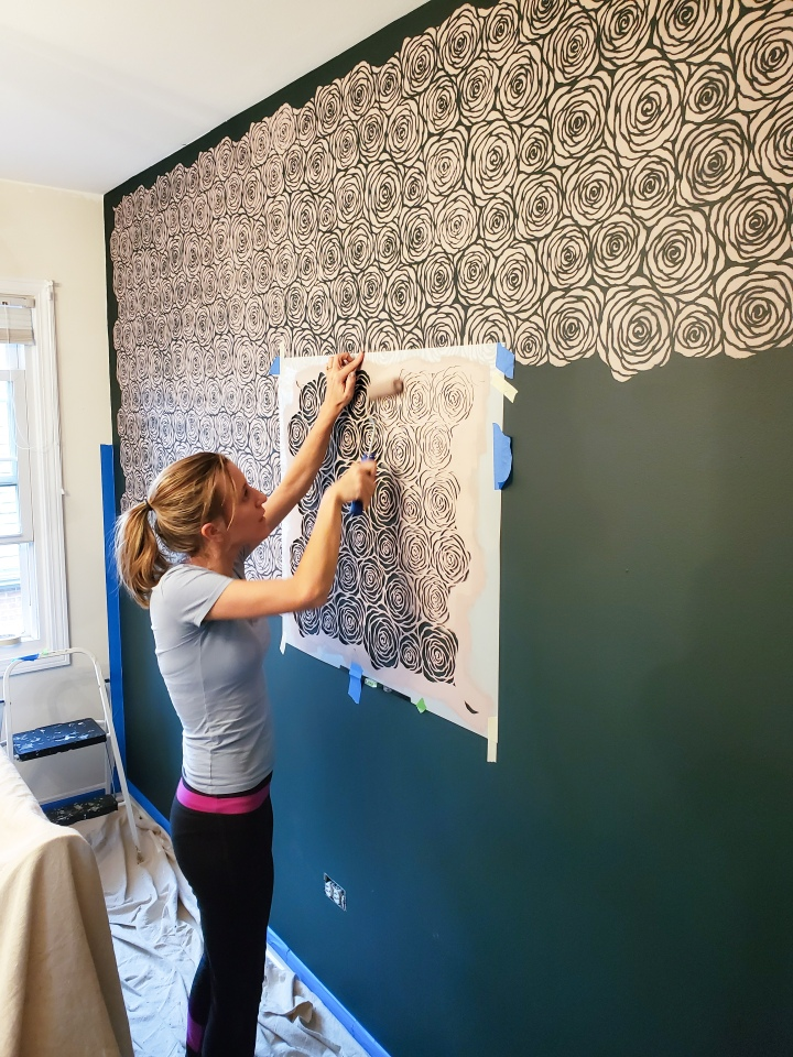 One Room Challenge – Week 4: DIY Accent Wall withStencils